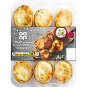 Co-op Mini Cheese and Chive Potato Skins 252g