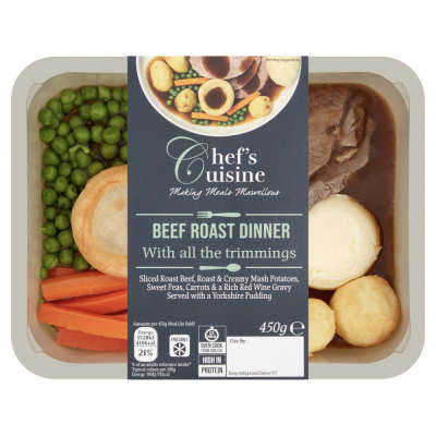 Chef's Cuisine Roast Beef Dinner with Yorkshire Pudding 450g
