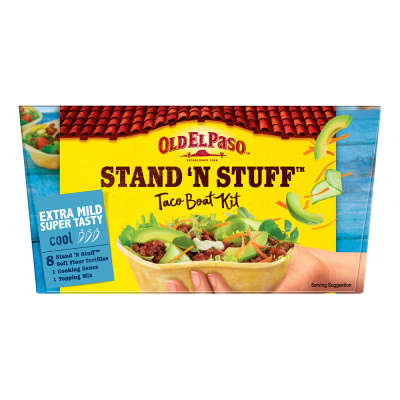 Old El Paso Stand & Stuff Extra Mild Super Tasty Kit 329g