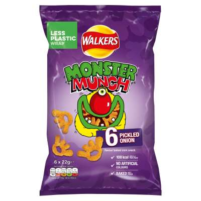 Walkers Monster Munch Pickled Onion 6x22g