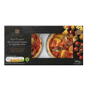 Co-op Irresistible Slow Roasted Tomato & Vegetable Tart 240g