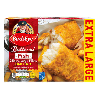 Birds Eye 2 Battered Extra Large Fish Fillets 320g