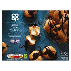 Co-op Salted Caramel Profiteroles With Chocolate Sauce 210g