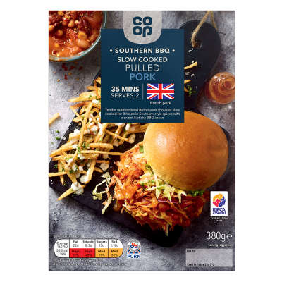Co-op Southern BBQ Slow Cooked British Pulled Pork 380g