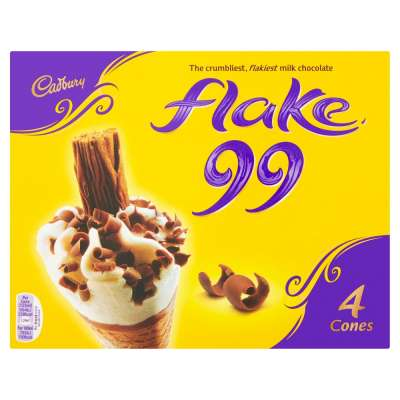 Cadbury Flake 99 Ice Cream Cone 4x125ml