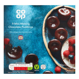Co-op 9 Mini Melt in the Middle Puddings 180g