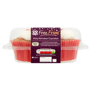 Co-op Free From Ruby Reindeer Cupcakes 90g - Gluten Free
