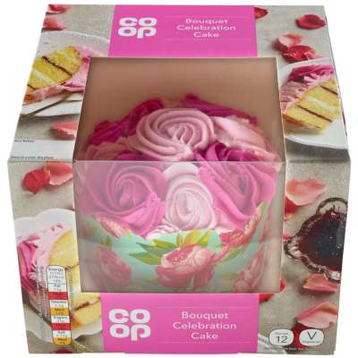 Cool Co Op Bouquet Celebration Cake Co Op Funny Birthday Cards Online Fluifree Goldxyz