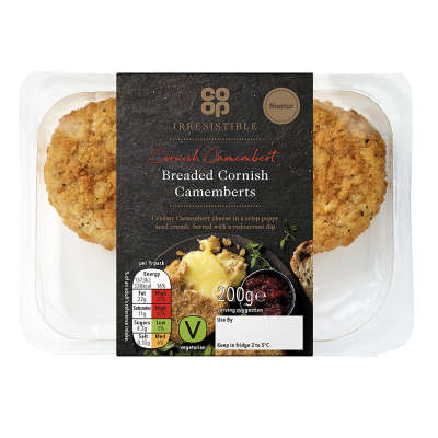 Co-op Irresistible Breaded Cornish Camembert's with Redcurrant Dip 200g