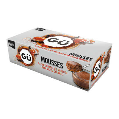 Gu Dark Chocolate Mousses with Salted Caramel 2x70g