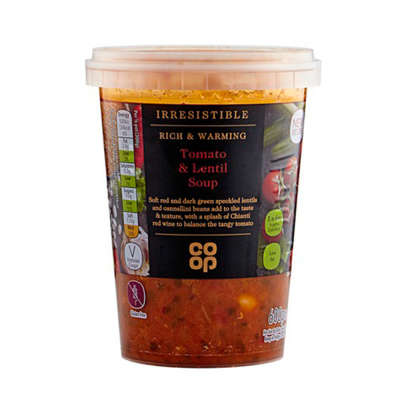 Co-op Irresistible Gluten Free Tomato And Lentil Soup 600g