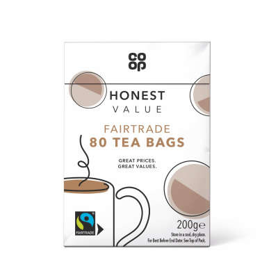 Co-op Honest Value Fairtrade Black Tea 80s