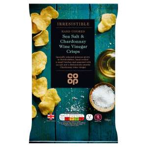 Co-op Irresistible Sea Salt Chardonnay Wine Vinegar Crisps 150g
