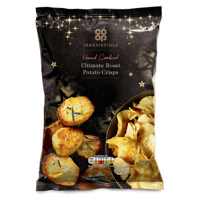Co-op Irresistible Ultimate Roast Potato Hand Cooked Crisps 150g