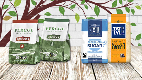Fairtrade Tate & Lyle Sugar and Percol Coffee