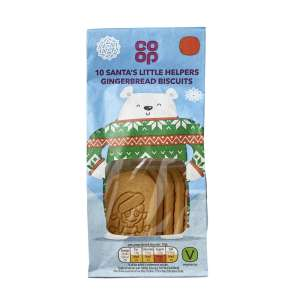 Co-op Santa's Little Helpers Gingerbread Biscuit Multipack