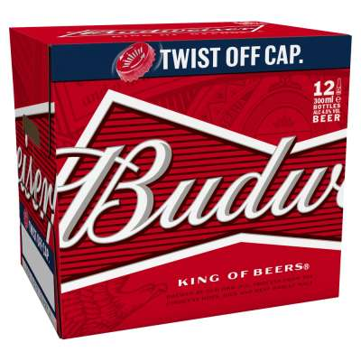Budweiser Lager Beer Bottles 12x300ml