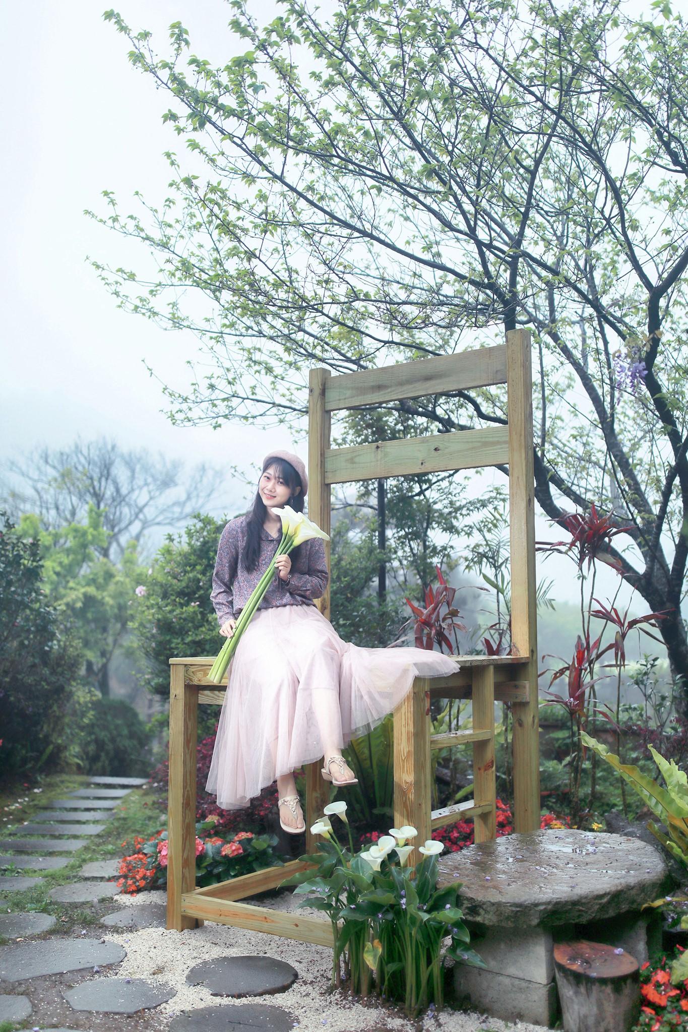 發現生活園藝的大椅子造景