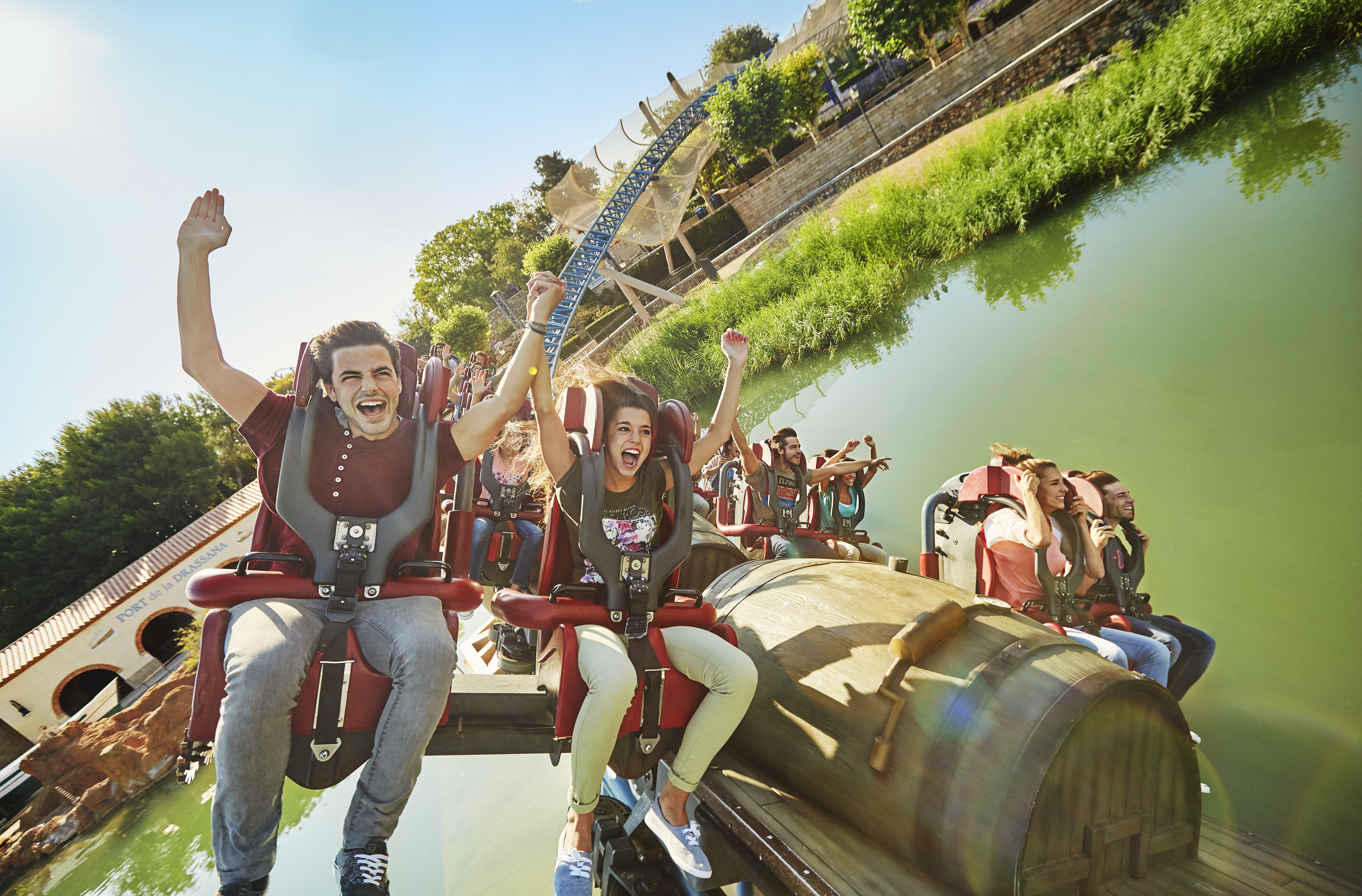 One of the rides in PortAventura Park