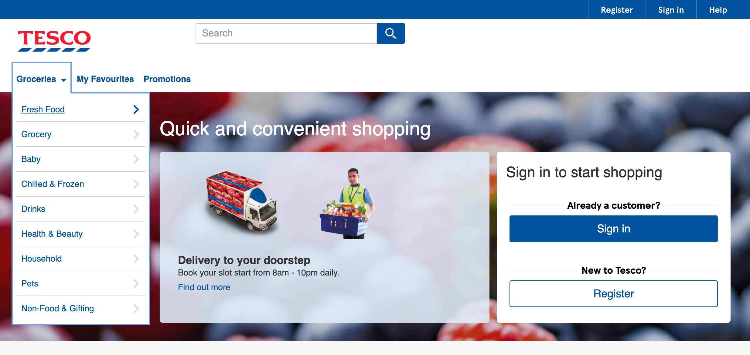 tesco grocery delivery malaysia