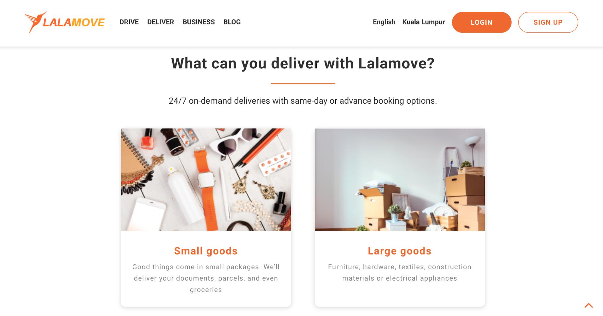 lalamove delivery service malaysia