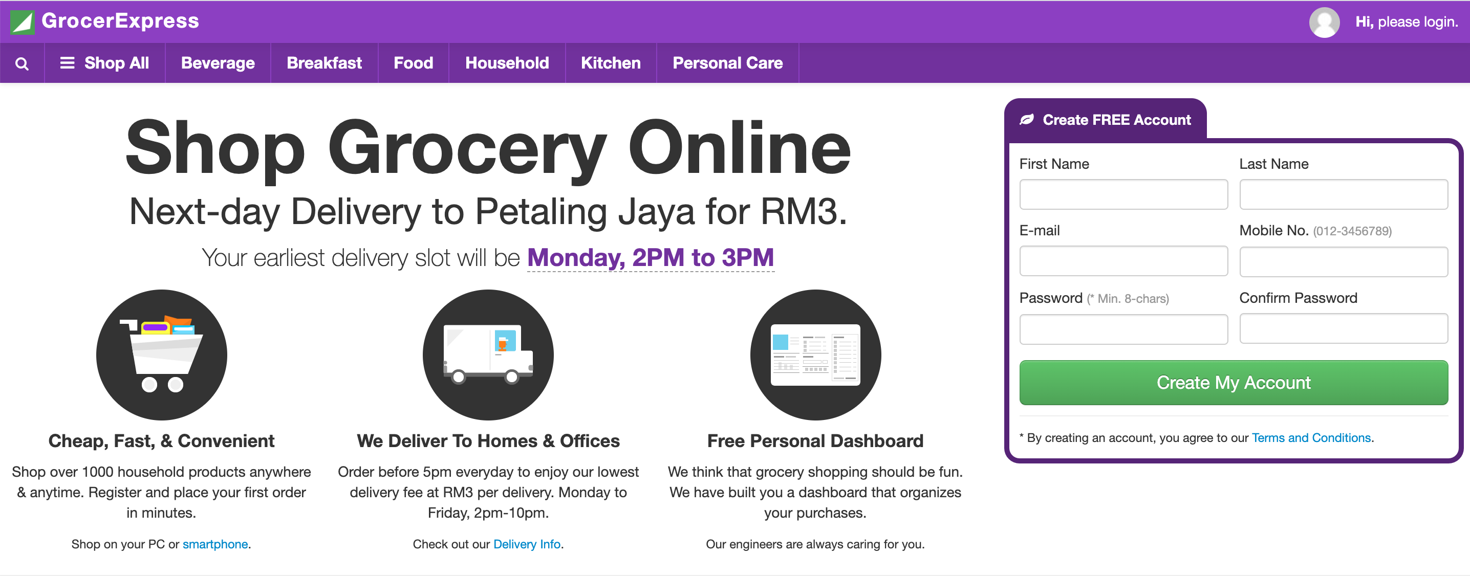 grocer express grocery delivery malaysia