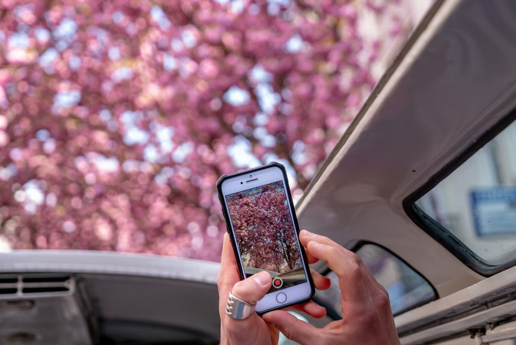 Taking photos while traveling with smartphone