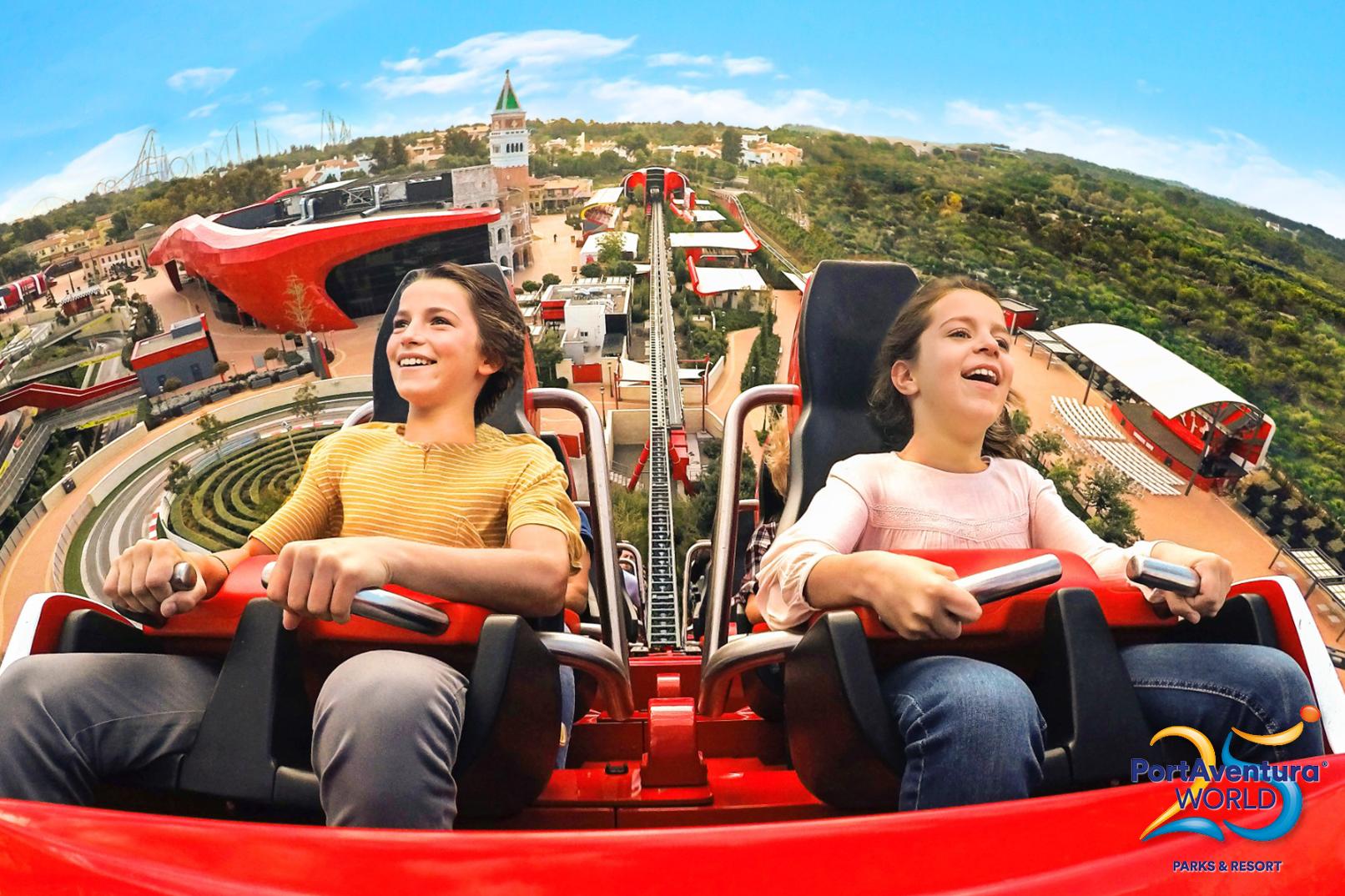A ride in Ferrari World, PortAventura