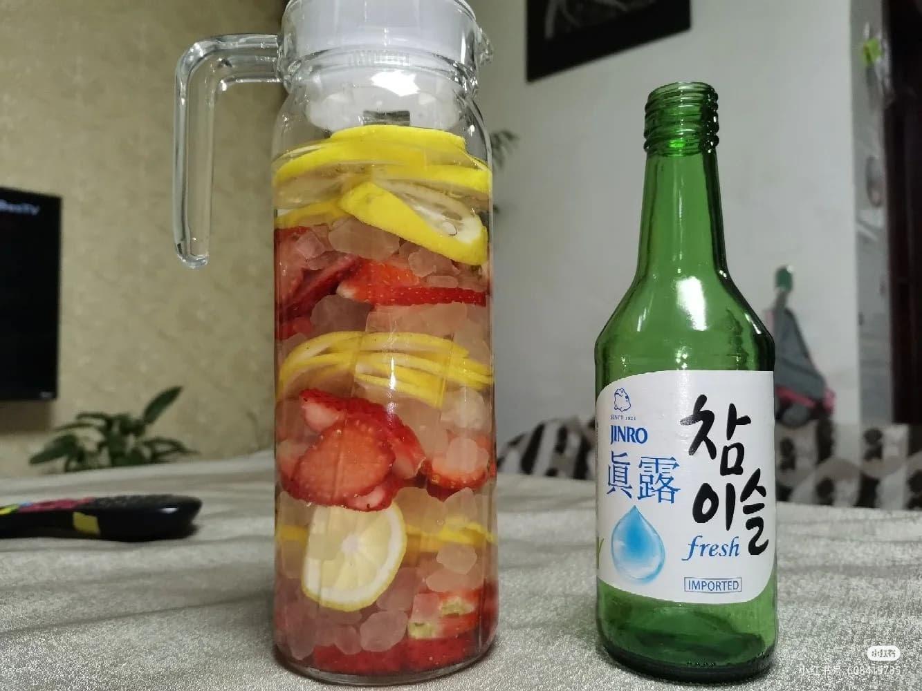 DIY Korean Soju Drinks Strawberry Lemon