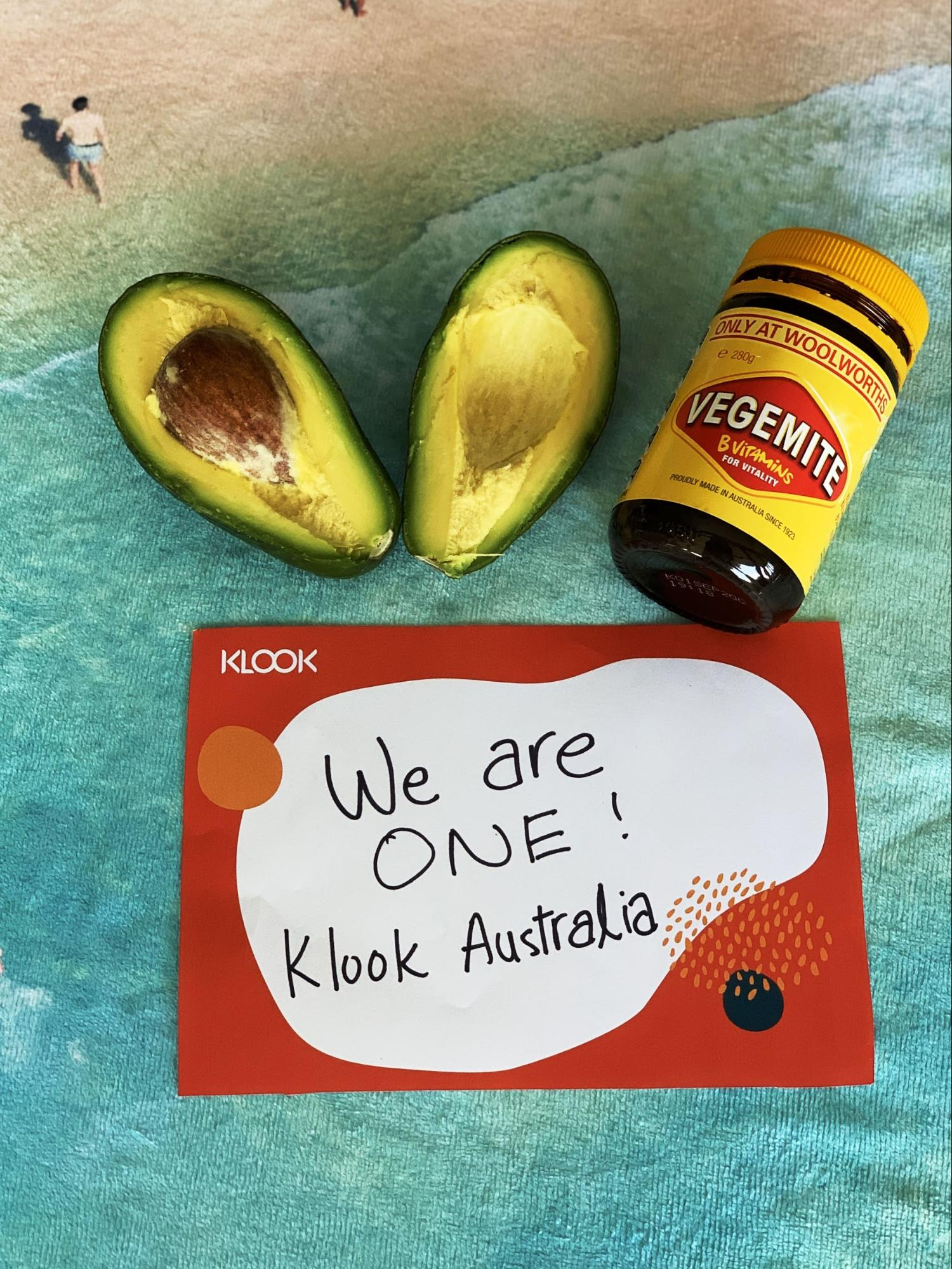 Vegemite and avocado from Australia