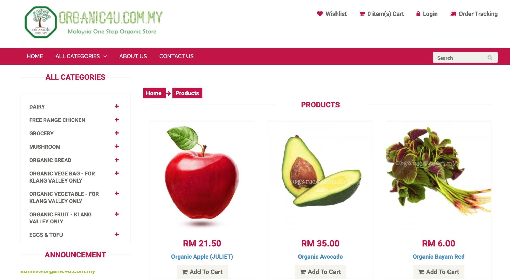organic4u delivery malaysia