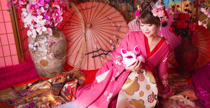 tokyo japan nanairo professional kimono photography experience oiran asakusa