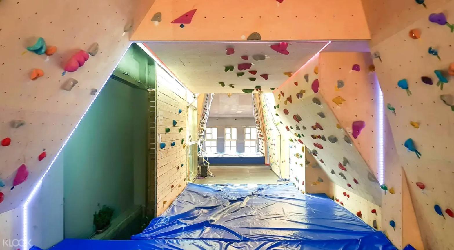 大稻埕的室內抱石攀岩