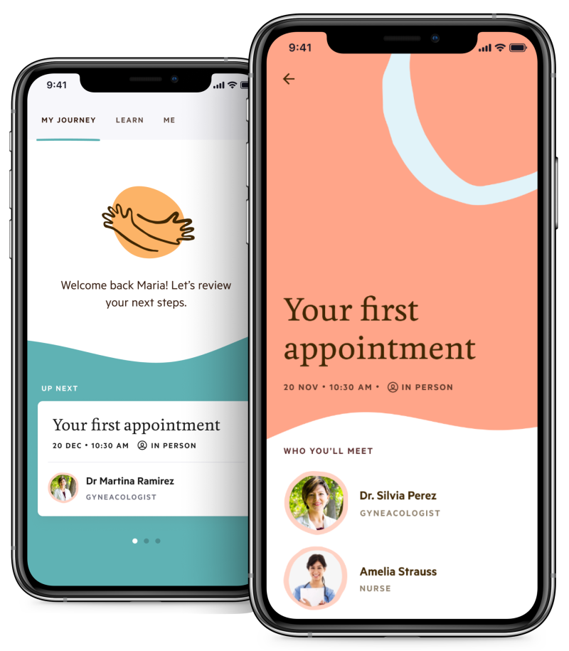 Helios Health Fertility App screenshots
