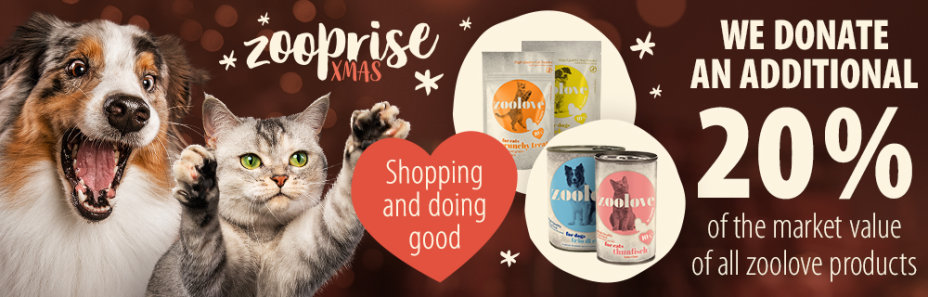 We donate an additional 20% of the market value of all zoolove products!