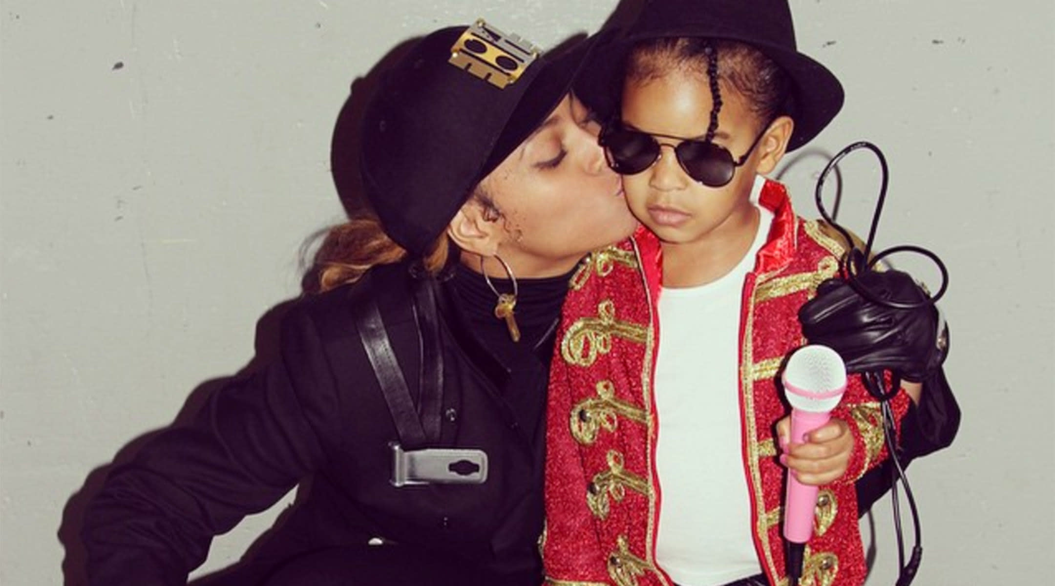 Beyonce and Blue Ivy as Michael Jackson