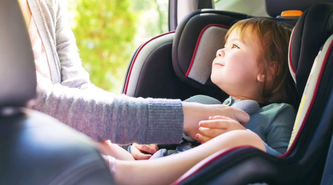 Baby in the best convertible car seat