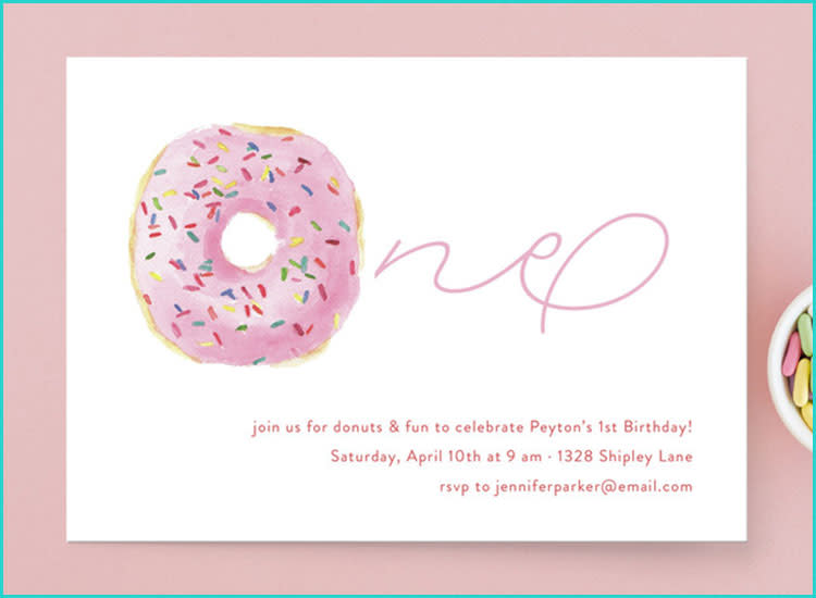 809282166d69 25 First Birthday Invitations to Get the Party Started