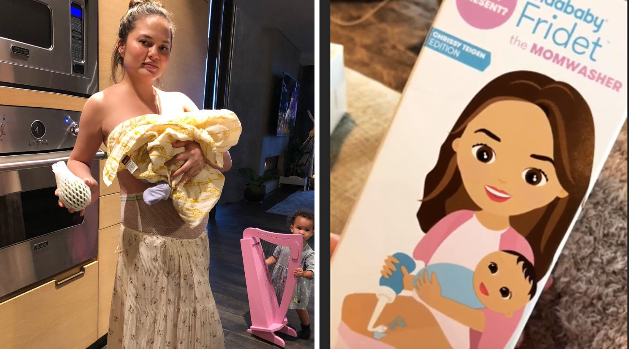Chrissy Teigen version of the Fridababy Fridet MomWasher