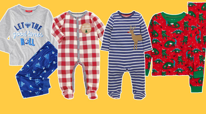 holiday pajamas for toddlers and babies