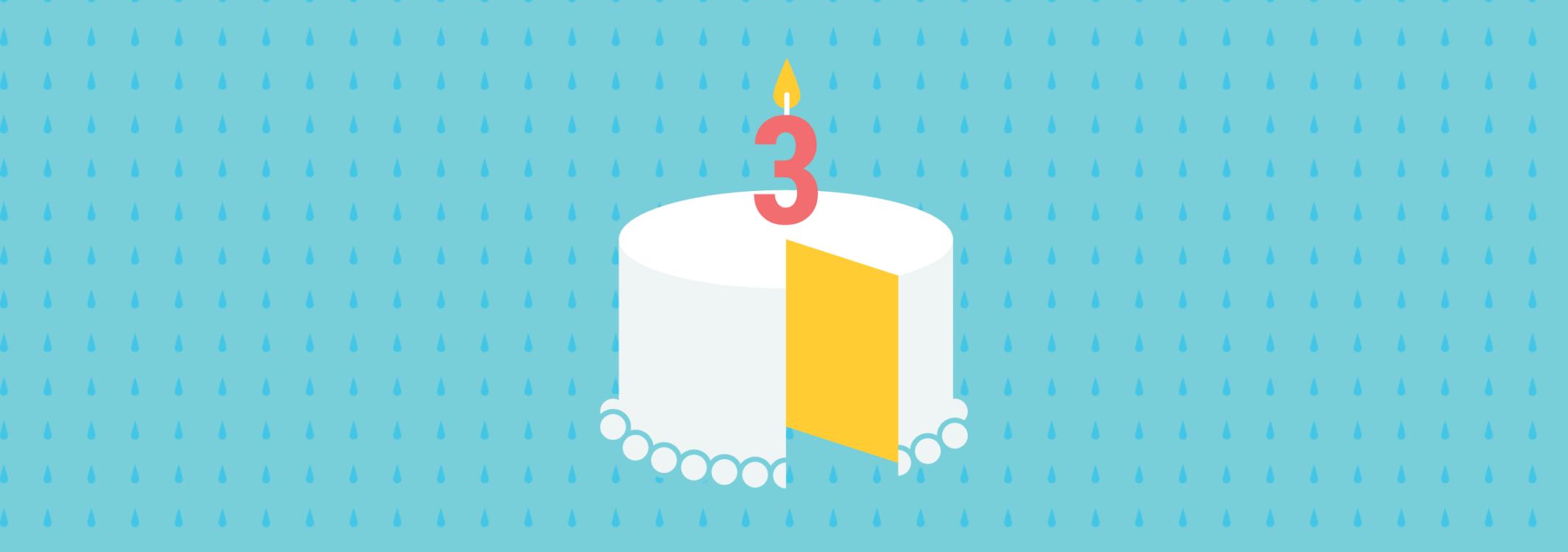 three year old birthday cake