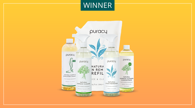 Puracy brand natural cleaning products.