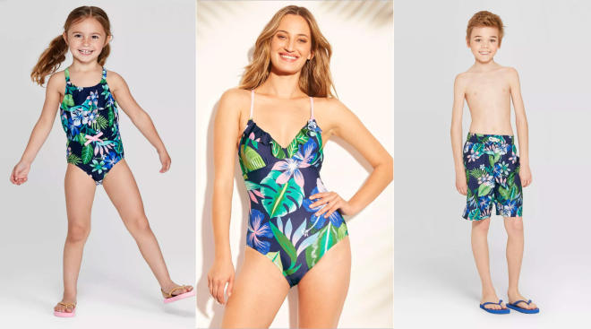 target releases matching family swimsuits