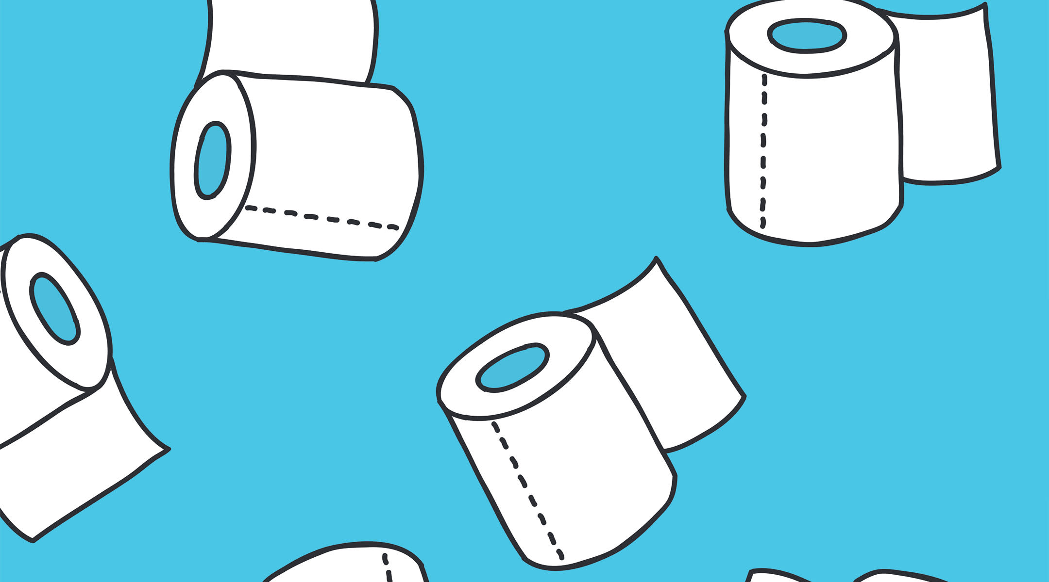 several rolls of toilet paper