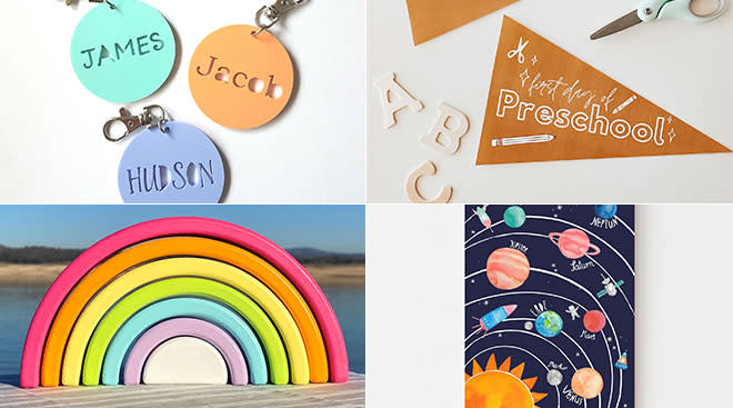 Etsy announces back to school trends which include personalized products and home learning activities.