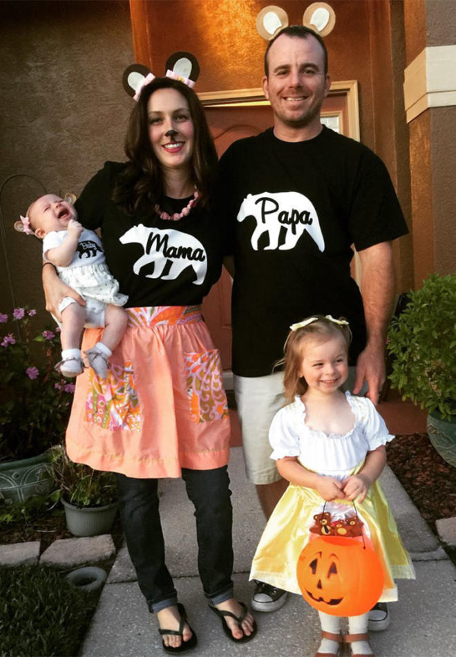 family halloween costume goldilocks - Family Halloween Costumes For 4