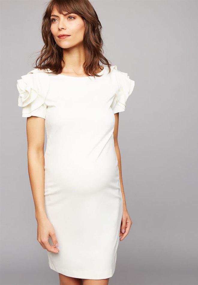 23 maternity wedding dresses pietro brunelli ruffled short maternity wedding dress junglespirit Image collections