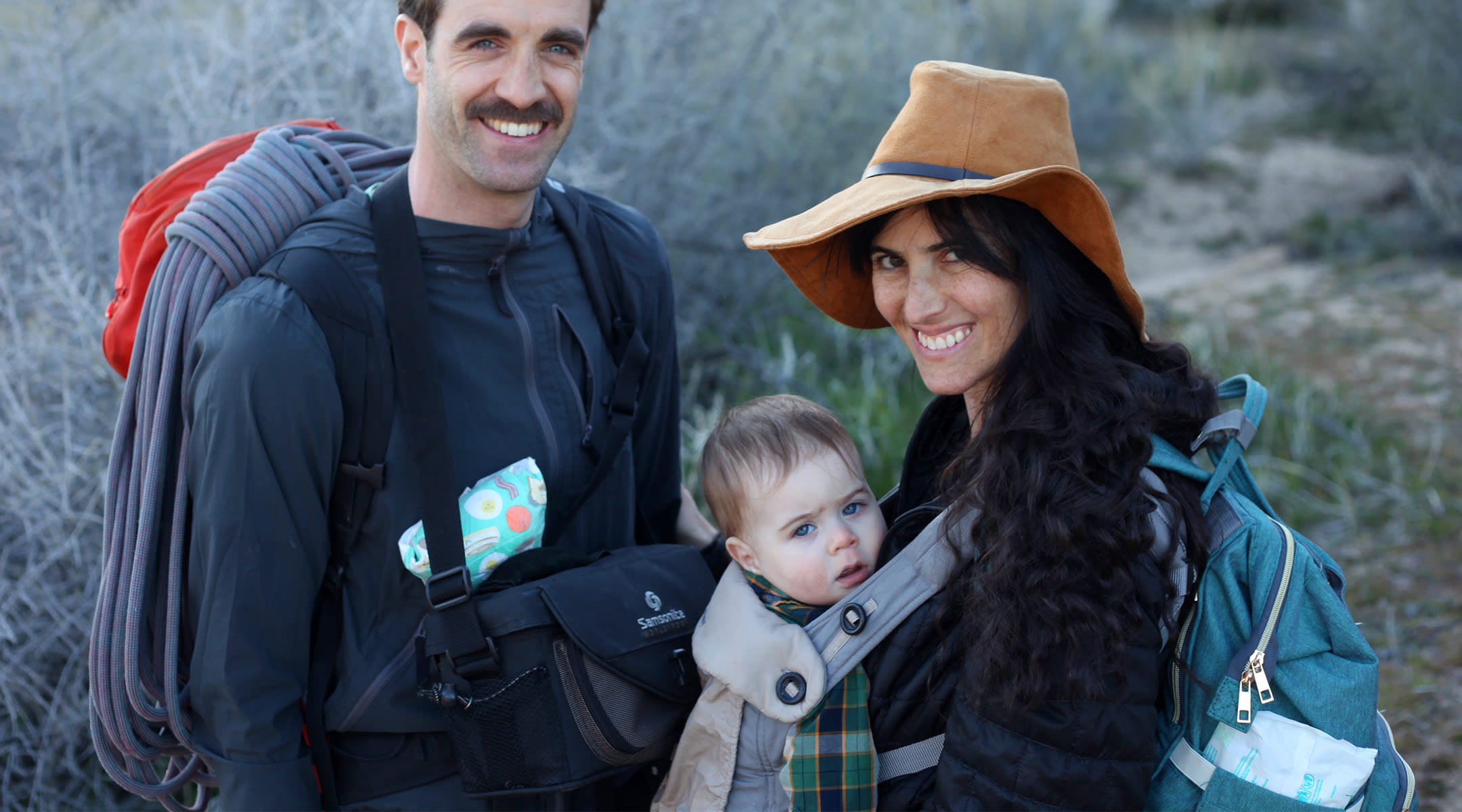 writer with her family on a hike