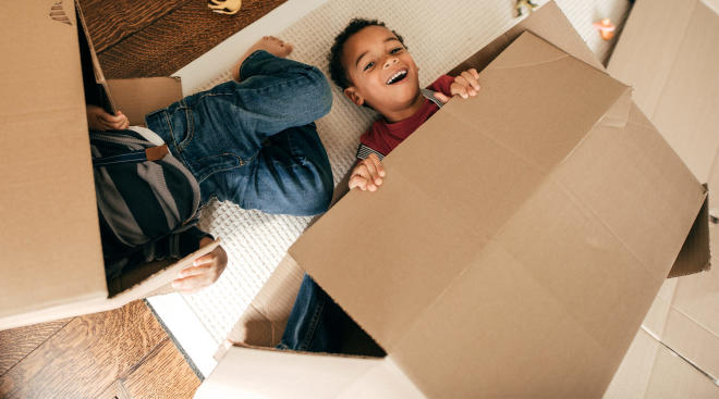 children prefer and have more fun playing with cardboard box