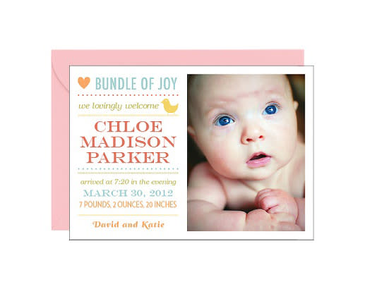 Photo Birth Announcements – Madison Birth Announcements